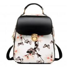 Рюкзак с бабочками Beibaobao 55329, pu кожа, белый