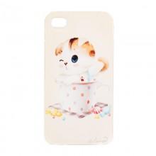 """Чехол для iPhone 4/4S  """"Вислоухий котенок в чашке"""""""