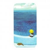 "Чехол для iPhone 4/4S JimmySpa ""Девочка, собака и море"""