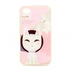 "Чехол для iPhone 4/4S  Find Me ""Белые кошки"""