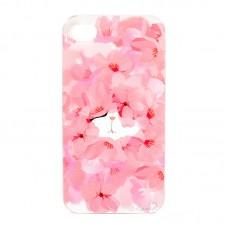 """Чехол для iPhone 4/4S  """"Котенок в розовых цветах"""""""