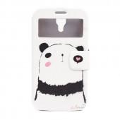 """Чехол-книжка для Samsung Galaxy S4 """"Грустная панда"""", с окошком, GView"""
