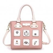 Сумка Duolaimi Cute Pictures 55322, pu кожа, розовая