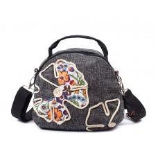 Сумка с бабочкой-цветком 55265, этническая, текстиль
