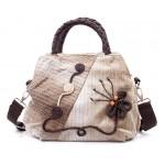 Сумка с плетеной бабочкой 55264, этническая, текстиль