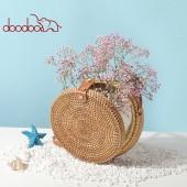 Сумка 55854, круглая плетеная, doodoo
