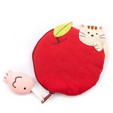 "Кошелек ""Яблоко с котенком"""