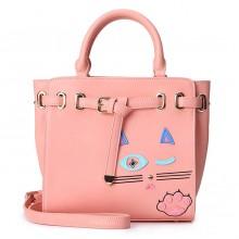 Сумка Подмигивающая Кошка 55299, экокожа, розовая