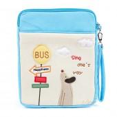 Сумка-чехол для iPad и планшета Sing One's Way, с собачкой, голубой