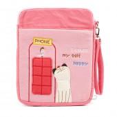 Сумка-чехол для iPad и планшета I Count Myself Happy, с кошкой, розовый