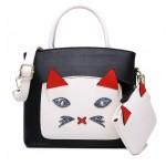 Сумка White Glamor Cat 55313, с кошельком, экокожа