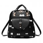 Рюкзак с принтом глазок Goggle-Eyed 55320, pu кожа, черный