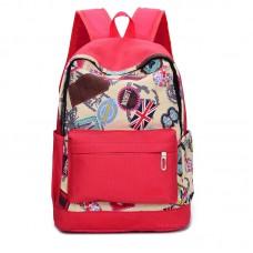Рюкзак с принтом London 55347, холст, красный