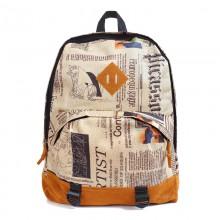 Рюкзак с принтом Newspaper 55348, полиэстер, газета