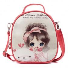 Рюкзак-сумка для девочек Маленькая Принцесса 55339, pu кожа, розовый