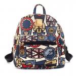 Рюкзак с принтом Граффити 55355, pu кожа