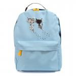 Рюкзак с принтом кошек 55351, холст, голубой