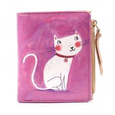 "Кошелек ""Добрая кошка"", пурпурный"