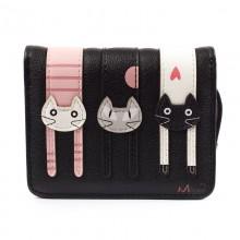 Кошелек с кошками Longcat, черный