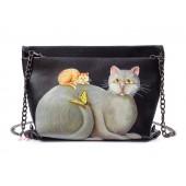 Сумка с рисунком кошек 55263, pu кожа