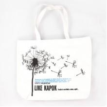 Сумка Like Kapok с рисунком одуванчика, белая