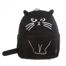 Рюкзак Кот с ушками 55383, холст, черный