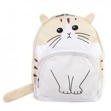 Рюкзак Кот с ушками 55382, холст, кремовый