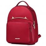 Рюкзак с ушками 55375, натур. кожа, мини, красный