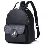 Рюкзак с птичкой 55376, экокожа, мини, черный