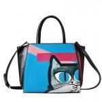 Сумка Silent Cat 55308, натур. кожа, черно-синяя