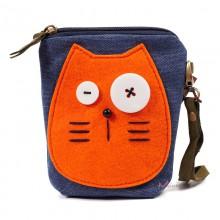 Сумка-кошелек Рыжий кот 55200, синяя
