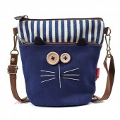 Сумка-кошелек Кот 3Q Shop 55278, синяя