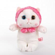 Мягкая игрушка - кошка в косынке, 22 см, белая