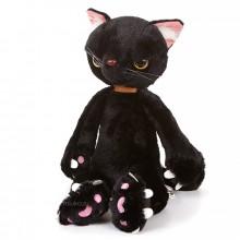 Мягкая игрушка - Сердитый кот, 36 см, черный