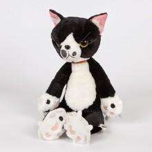 Мягкая игрушка - Сердитый кот, 36 см, черно-белый