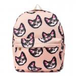 Рюкзак с принтом Мордочки Котят 55342, холст, розовый